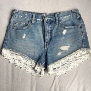 Free People high waisted denim jeans
